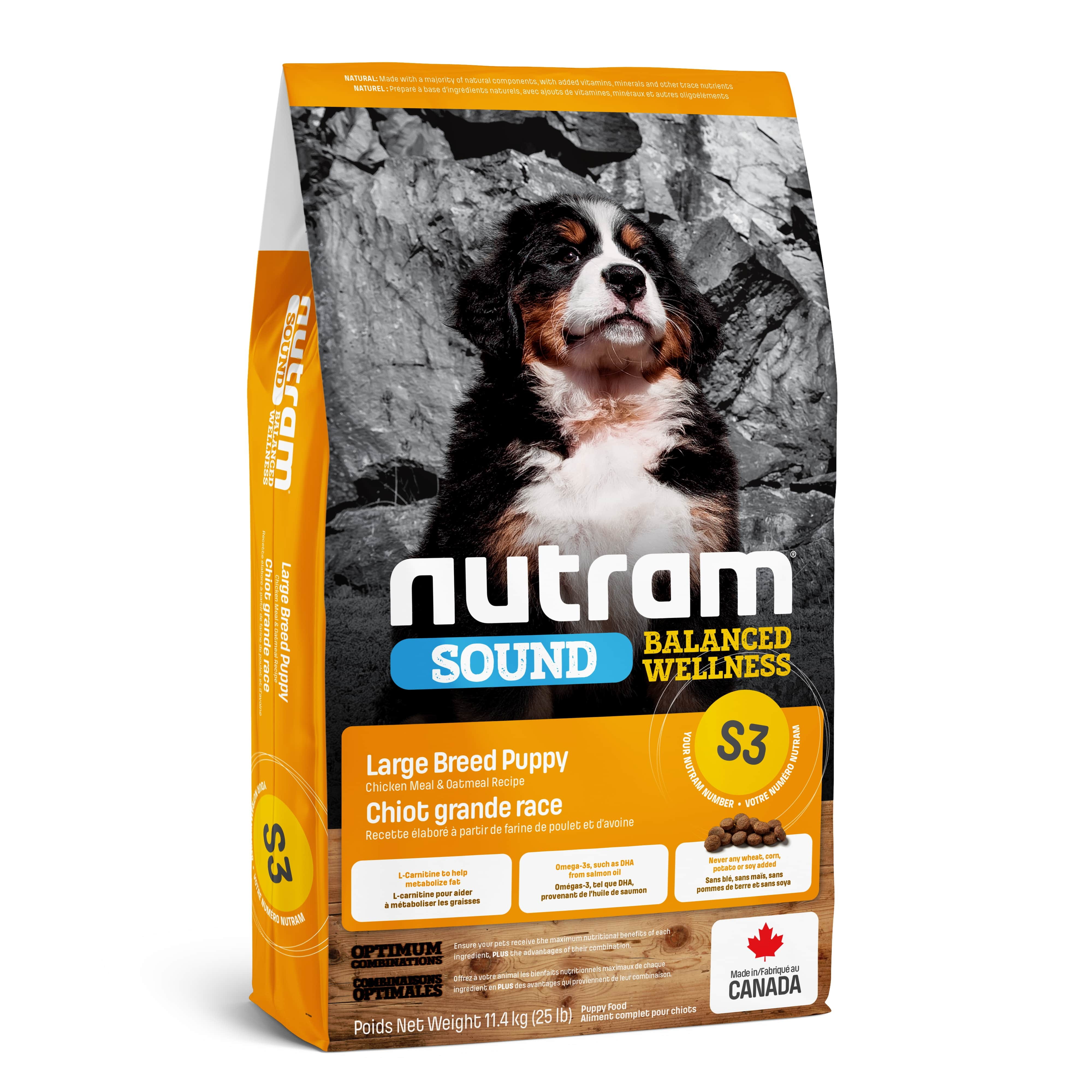 S3 Nutram Sound Balanced Wellness® Natural Large Breed Puppy Food