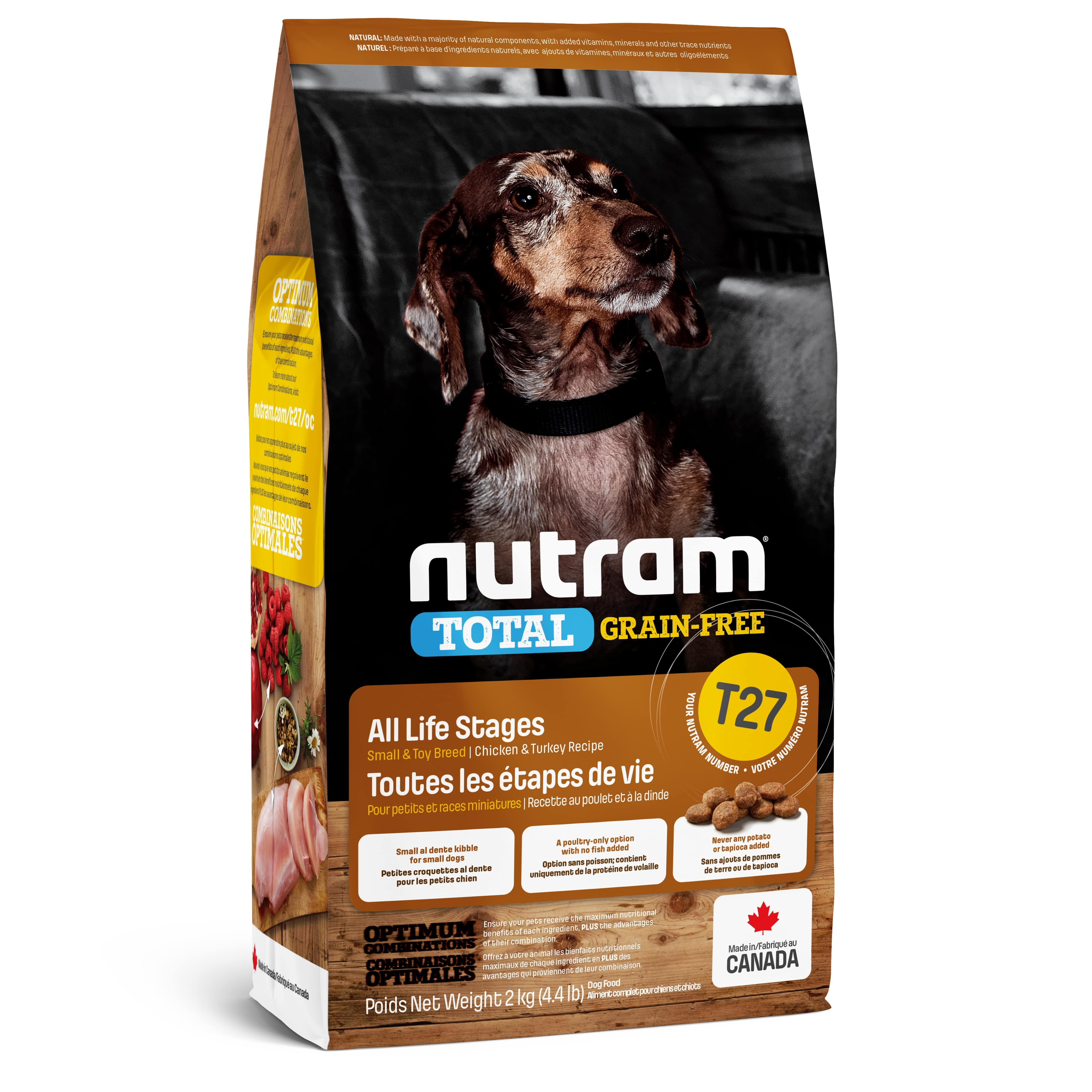T27 Nutram Total Grain-Free® Turkey & Chiken Small Breed Dog Food