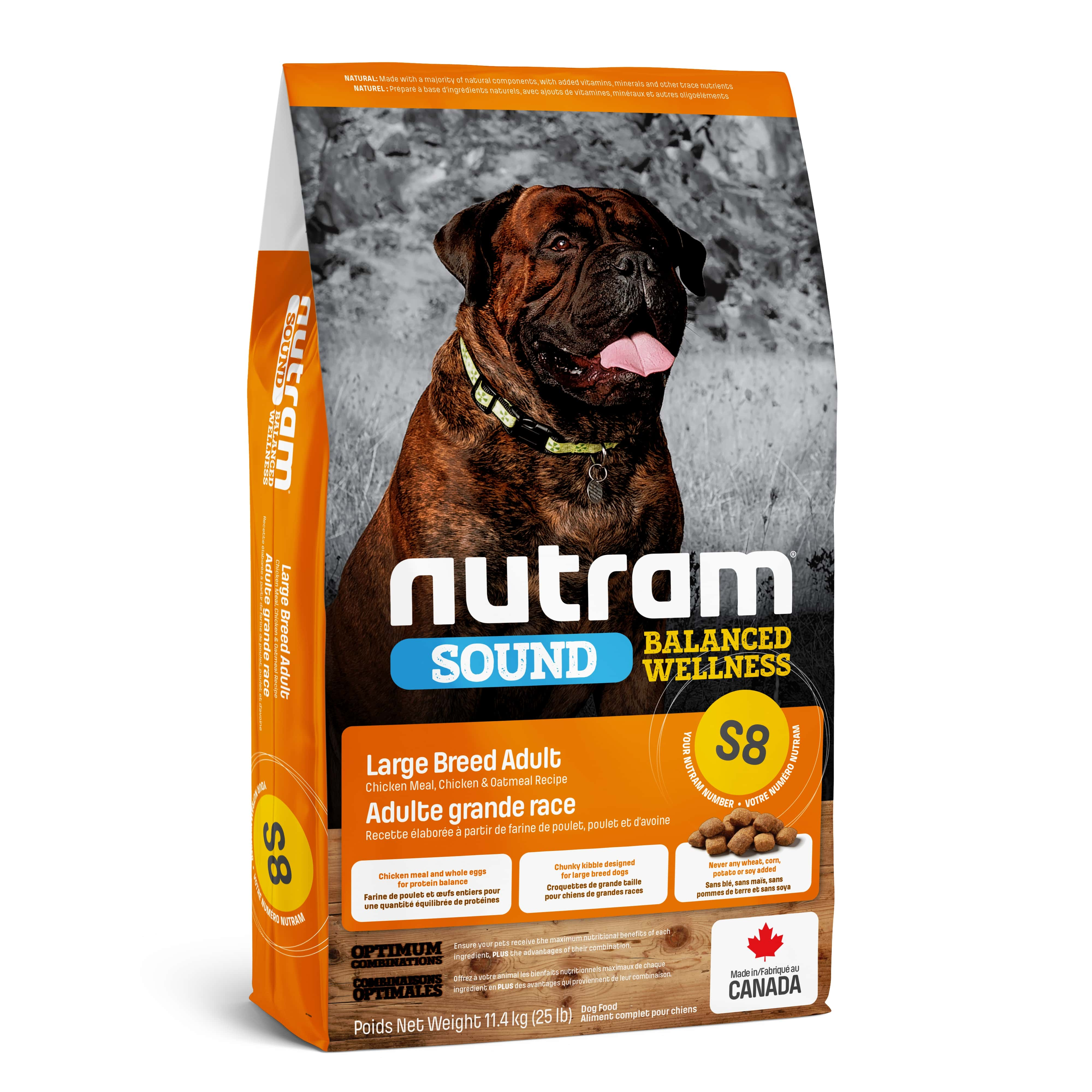 S8 Nutram Sound Balanced Wellness® Large Breed Adult Dog Food