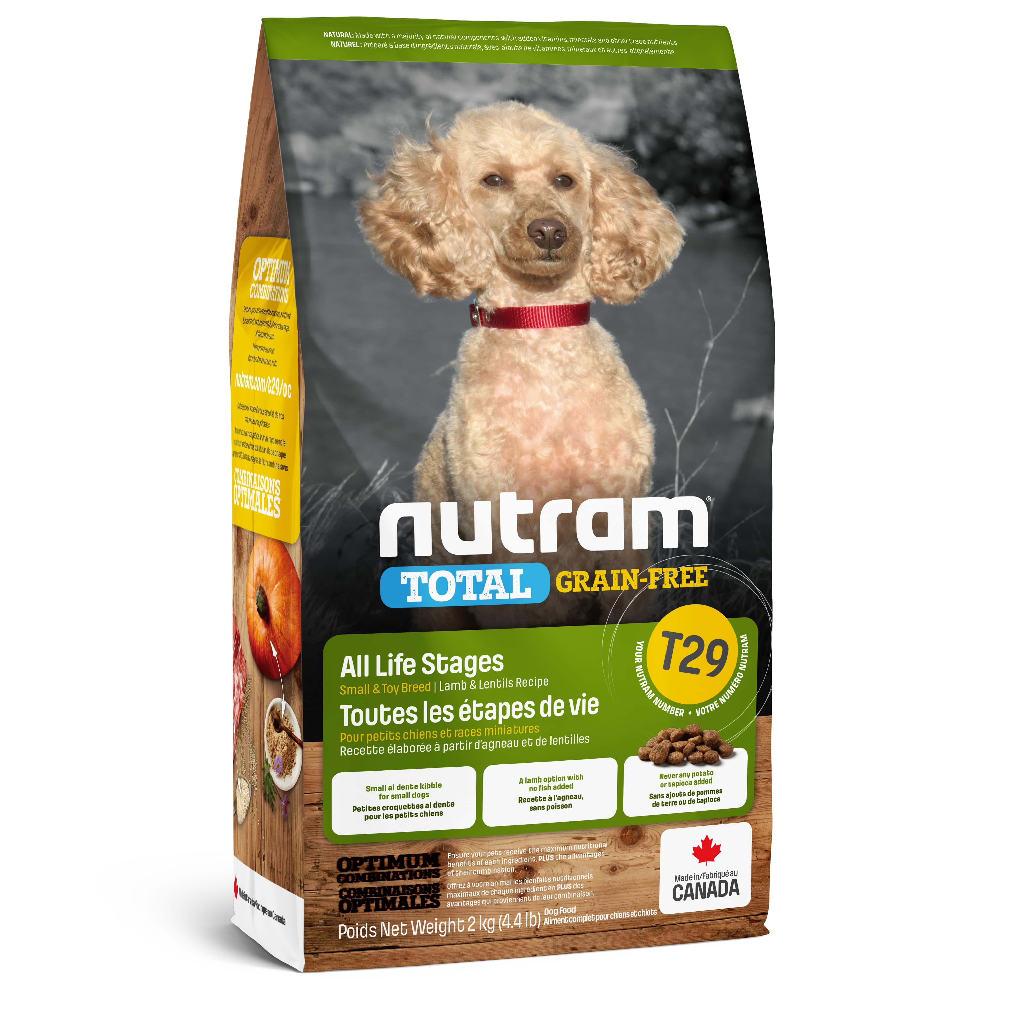 T29 Nutram Total Grain-Free® Lamb and Lentils Recipe Dog Food
