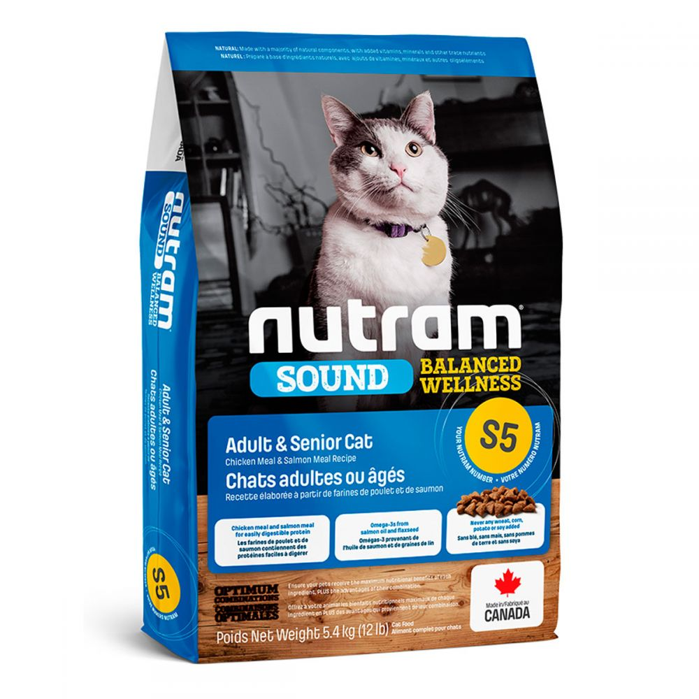 S5 Nutram Sound Balanced Wellness® Natural Adult & Senior Cat Food