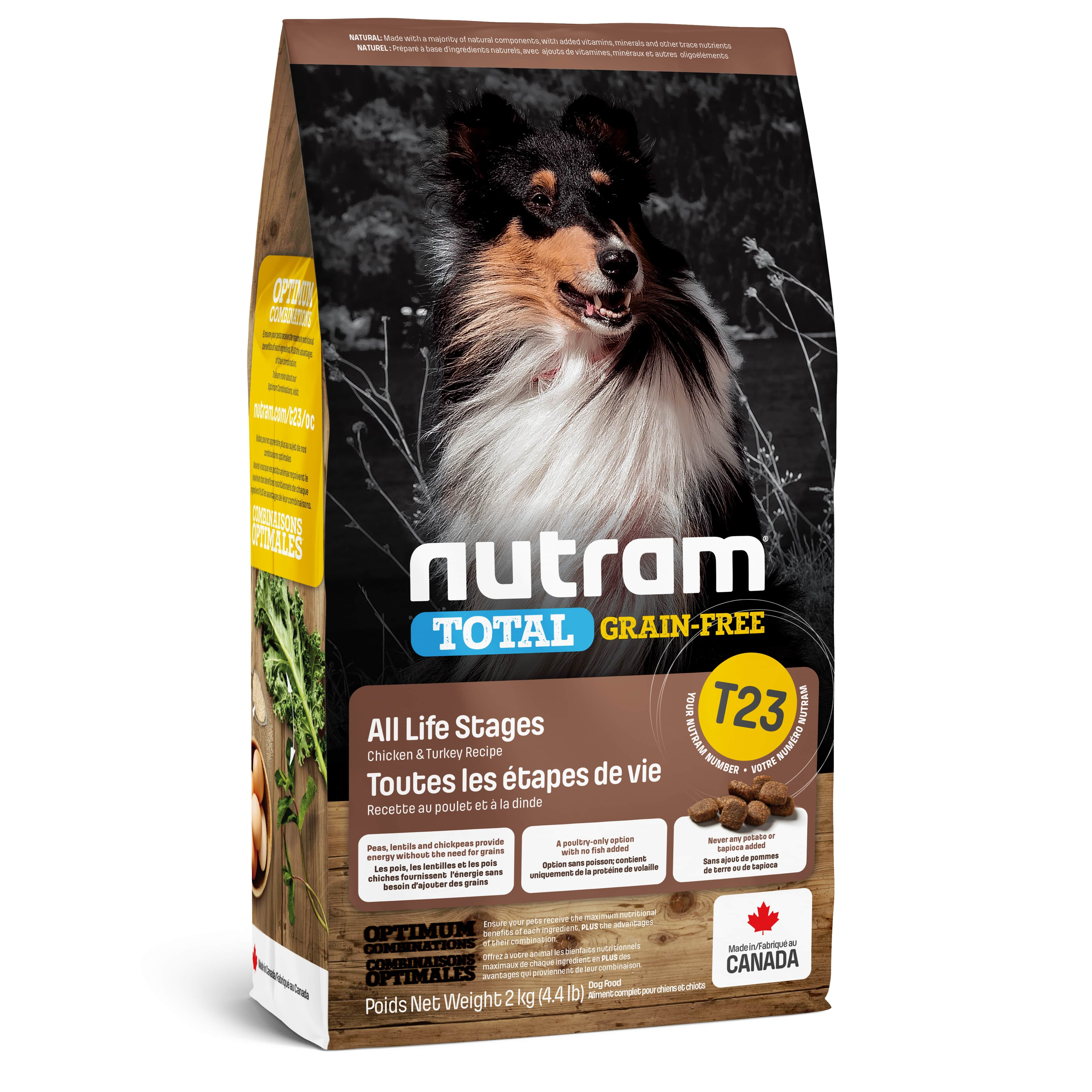 T23 Nutram Total Grain-Free® Turkey, Chiken & Duck Dog Food