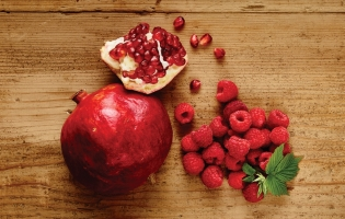 Pomegranate + Raspberries